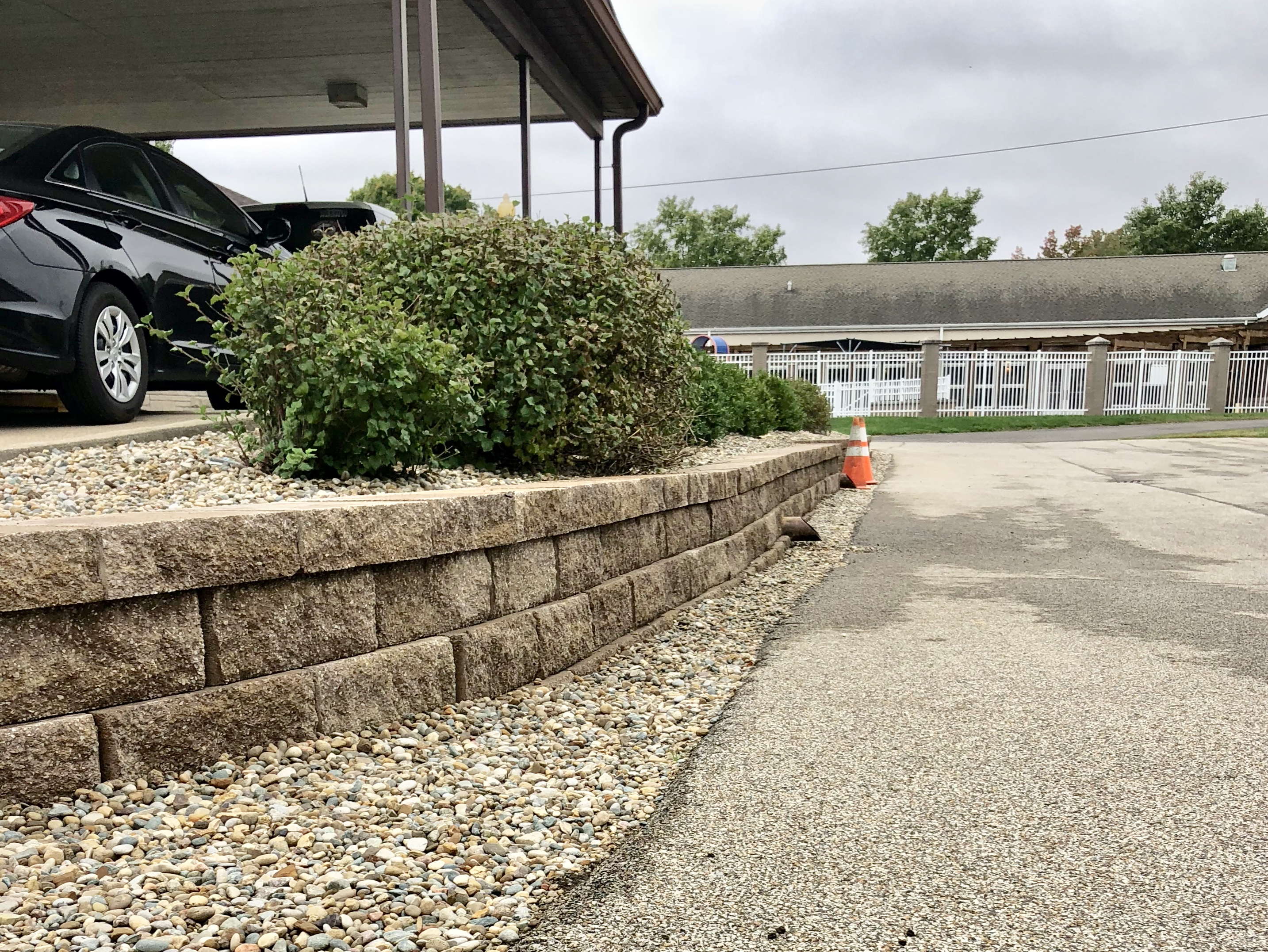 Before and After Retaining Wall Upgrade